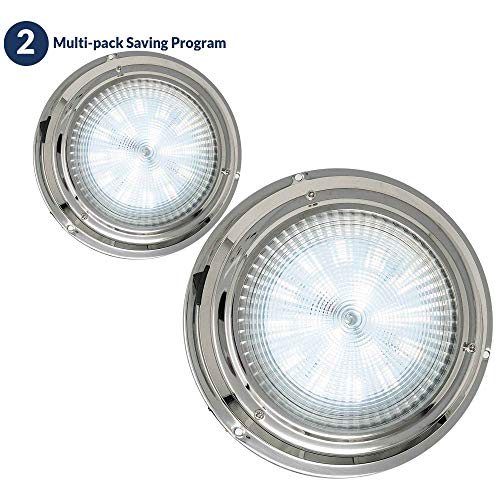 Five Oceans Stainless Steel LED Interior Dome Light w/On-Off Switch, 4