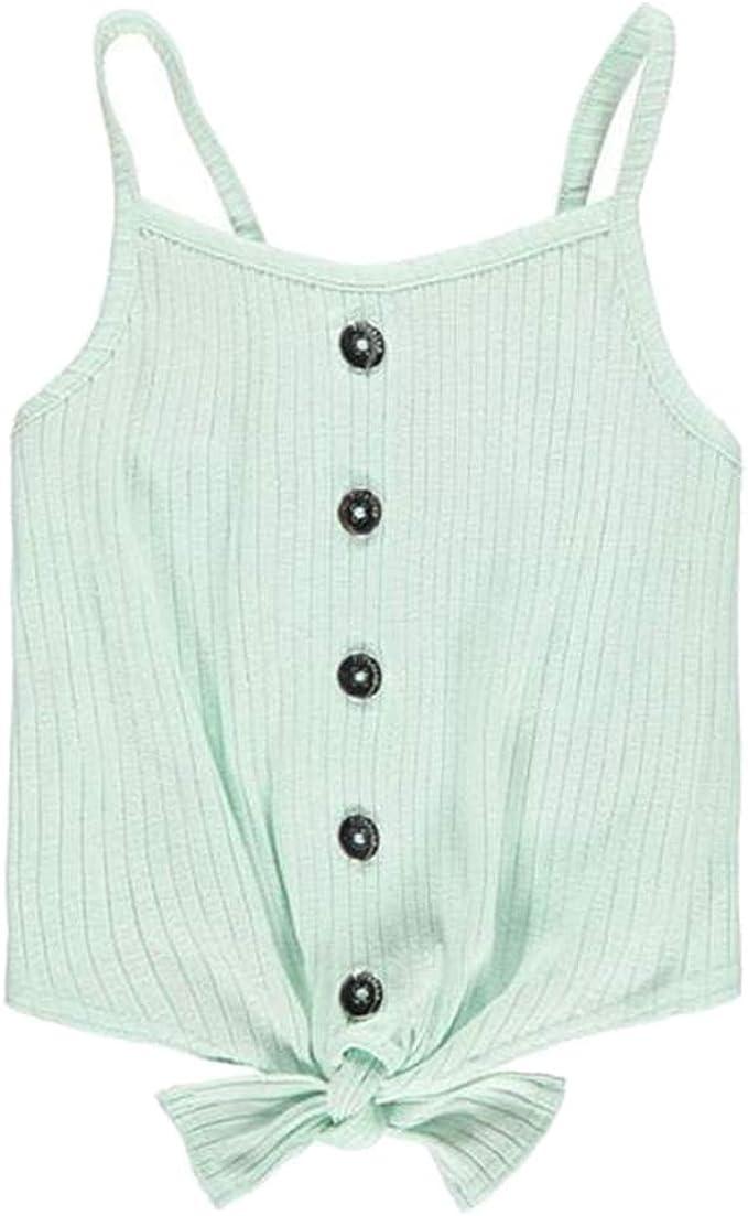 Girls Button Vest Top Strappy Age 7-13 Firetrap/
