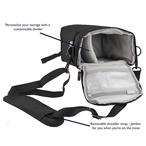 Navitech Black Protective Portable Handheld Binocular Case and Travel Bag for The Leica Noctivid 10 x 50 HD-Plus by Navitech (Image #2)