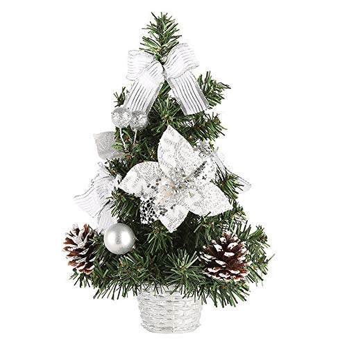 ASERTYL Artificial Tabletop Mini Christmas Tree Decorations Festival
