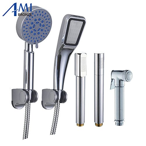 Generic A style 3pcs   Bathroom Accessories Copper Shower Nozzle Handheld Shower Stick Hand Held Shower Head
