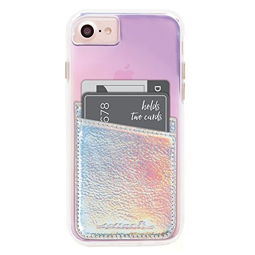 Case-Mate - Stick On Credit Card Wallet - POCKETS - Ultra-slim Card Holder - Universal fit - Apple - iPhone - Samsung - Galaxy - and more - Iridescent