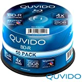 50 QUVIDO BD-R 25GB 4x Full Printable in Spindel // RiTEK
