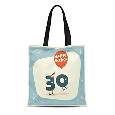 b74e3a652157 Amazon.com: Semtomn Canvas Tote Bag Shoulder Bags Anniversary ...