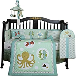 Geenny Boutique Sea World Animal Unisex 13 Piece Baby Crib Bedding Set