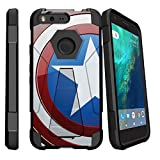 america phone case - MINITURTLE Case Compatible w/ Google Pixel Slim Case| Pixel Stand Case [SHOCK FUSION] Advanced Armor Rugged Slim Heavy Duty Stand Cover Shell w/ Design America Shield Hero