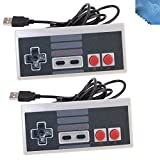 2 Pack Classic Nintendo USB NES Controller USB Famicom Controller Joypad Gamepad,EEEKit Computer Games Solution Kit for Windows PC / MAC / Raspberry Pi