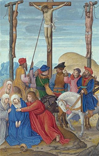Oil Painting 'The Piercing Of Christ's Side, About 1525 - 1530 By Simon Bening' 16 x 25 inch / 41 x 64 cm , on High Definition HD canvas prints - 61 Sunglasses Dj