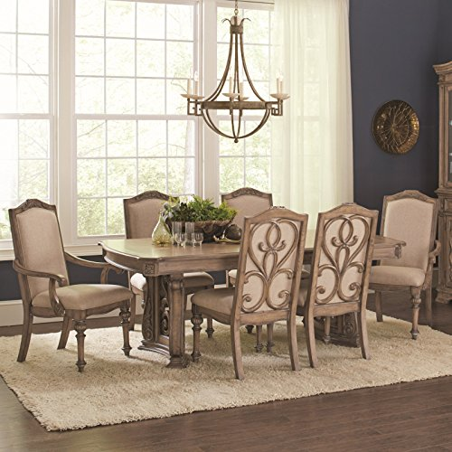 Coaster Ilana Traditional Rectangular Formal Five Piece Dining Table (Formal Dining Room Furniture)