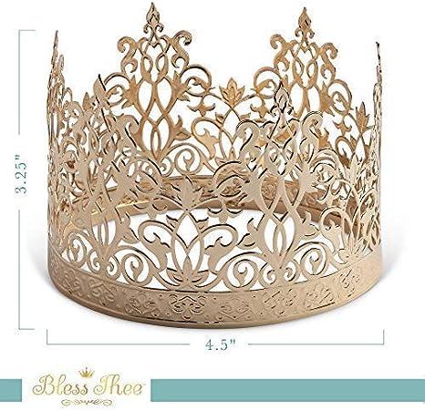 Amazon.com: Decoración para tartas de corona de oro para ...