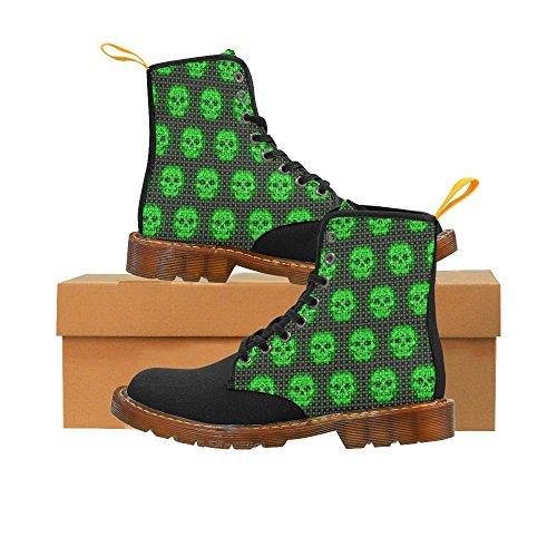 Leinterest Skallar Med Gröna Prickar Martin Stövlar Mode Skor För Kvinnor