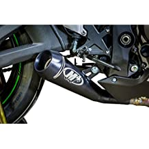 M4 Kawasaki ZX-10R 16-17 GP Mount Slip On Exhaust Black Satin