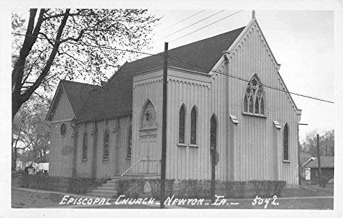 Newton Iowa Episcopal Church Real Photo Vintage Postcard (Vintage Real Photo Postcard)