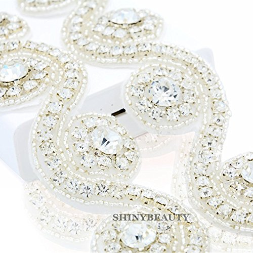 ShiDianYi Rhinestone bridal sash Wedding