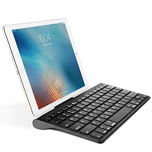 OMOTON Ultra-Slim Bluetooth Keyboard with Sliding Stand iPad 2018, iPad 2017, iPad Pro, iPad Mini 4/3/2/1, iPad 4/3/2, iPhone 8/8 Plus, iPhone X and Other Bluetooth Enabled Devices, Black