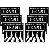 """Studio 500 - LP & Album Frame Cover - Made to Display LP and Album Covers 12.5"""" x 12.5"""" - Hardware for Hanging Installed and No Assembly Required - Simple to Use LP & Album Frame Cover, 6-pack"""