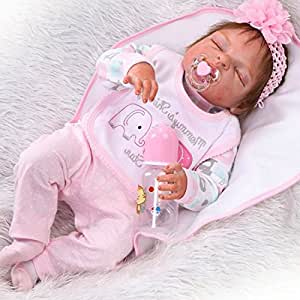 Amazon Com Ziyiui 22 Full Body Silicone Vinyl Reborn Doll Lifelike