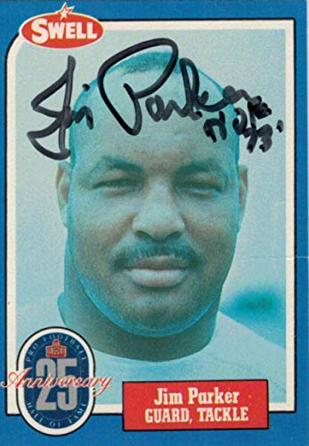 Jim Parker Autographed/Signed Baltimore Colts 1988 Swell HOF Card 80148 - NFL Autographed Football Cards