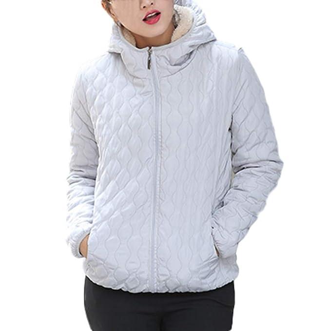 MEIbax Abrigos Mujer Invierno Chaqueta con Capucha de Abrigo cálido para Mujer Chaqueta Delgada de Invierno Outwear Abrigos: Amazon.es: Ropa y accesorios