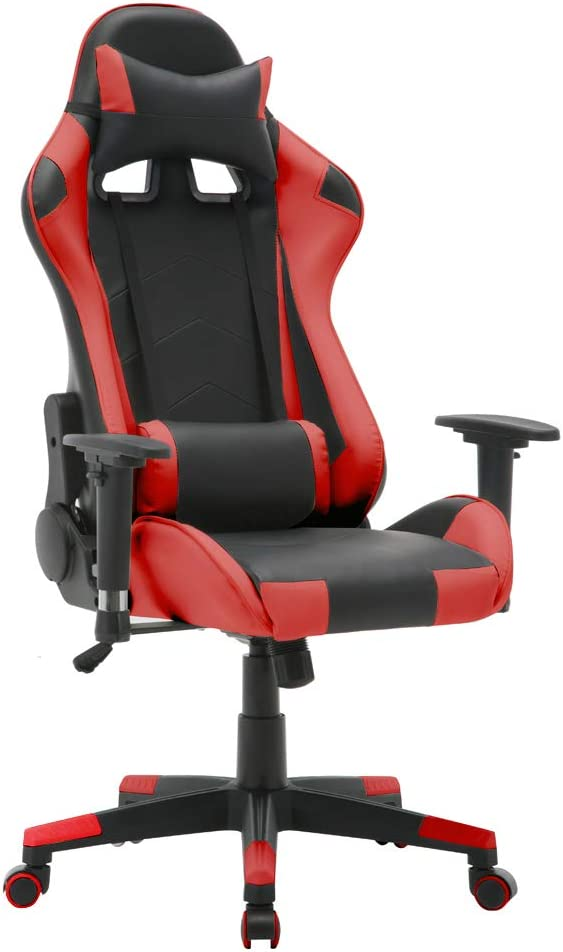 T-LoVendo TY-OC-RC1-RED Silla Gaming Oficina Racing Sillon Gamer Despacho Profesional Videojuegos PC
