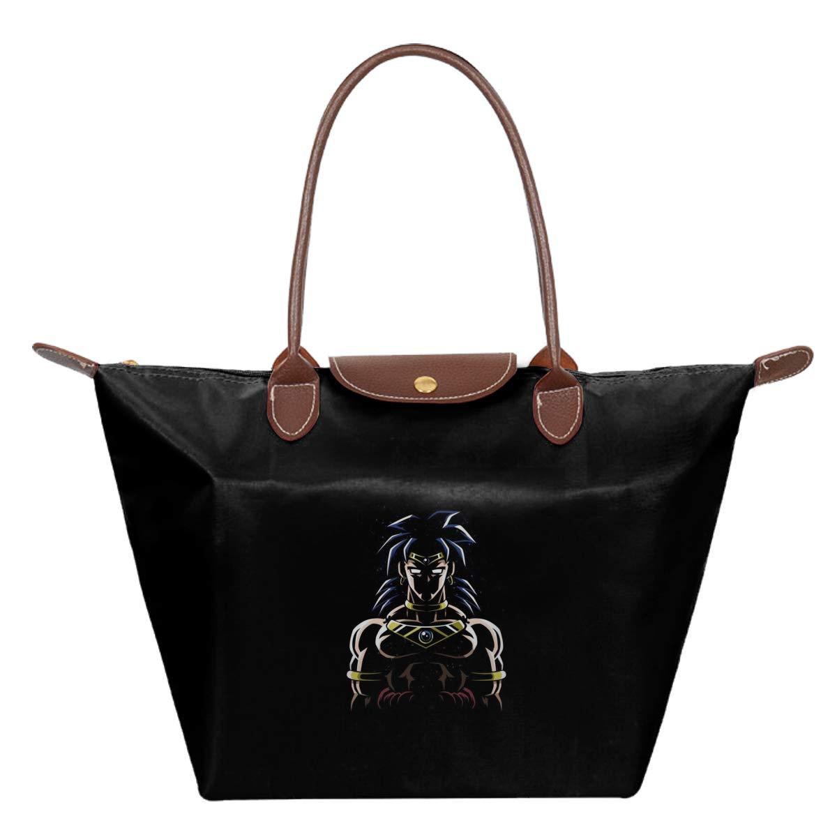 Dragon Ball Z Broly In The Shadows Waterproof Leather Folded Messenger Nylon Bag Travel Tote Hopping Folding School Handbags