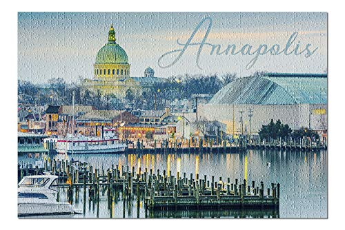 Annapolis, Maryland - Marina (20x30 Premium 1000 Piece Jigsaw Puzzle, Made in USA!)