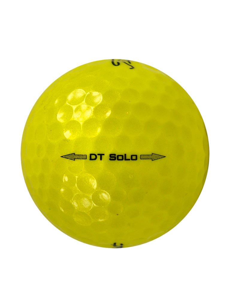 144 Titleist DT Solo Yellow - Value (AAA) Grade - Recycled (Used) Golf Balls