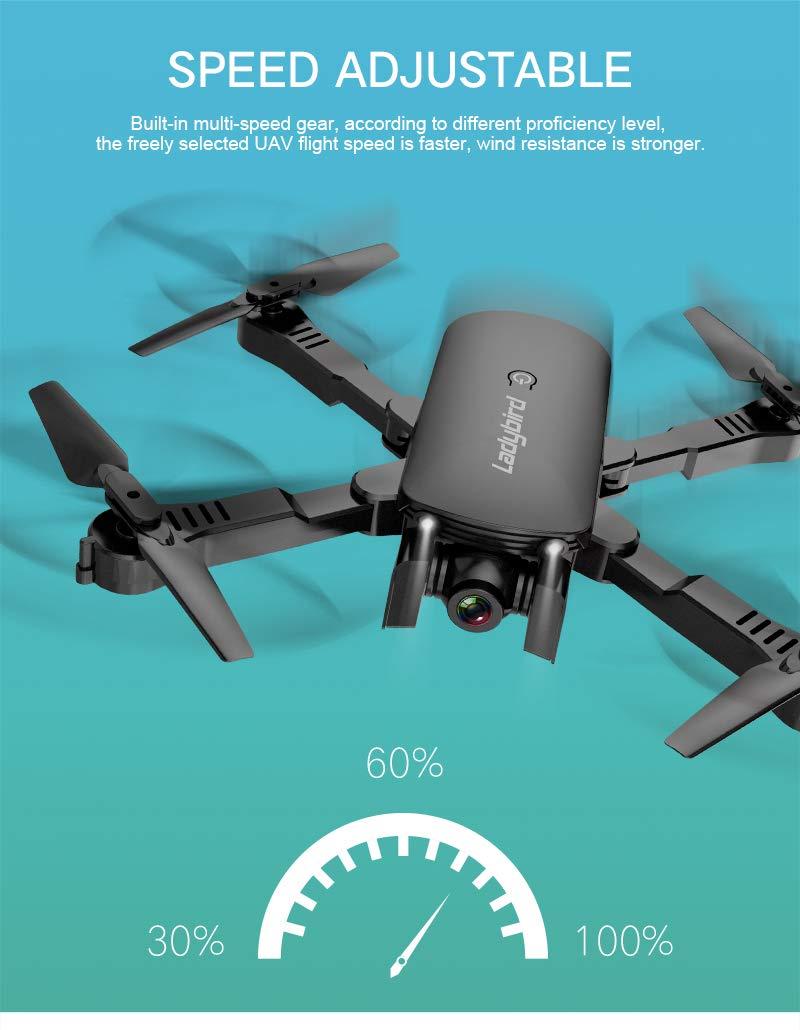 Adsvtech WiFi FPV RC Drone con cámara Doble 1080 HD para ...