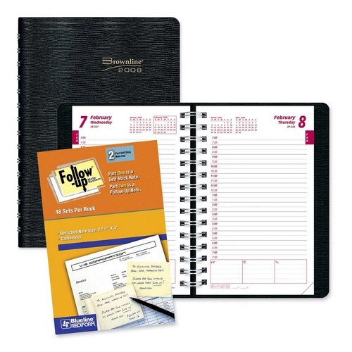 Carbonless Daily Planner - CB634WNBLK - 2-Part Carbonless Daily Planner