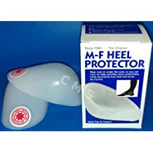 M-F Athletic Plastic Heel Protector Cups Heat Moldable Regular W7.5+/M6+ BOX PAIR