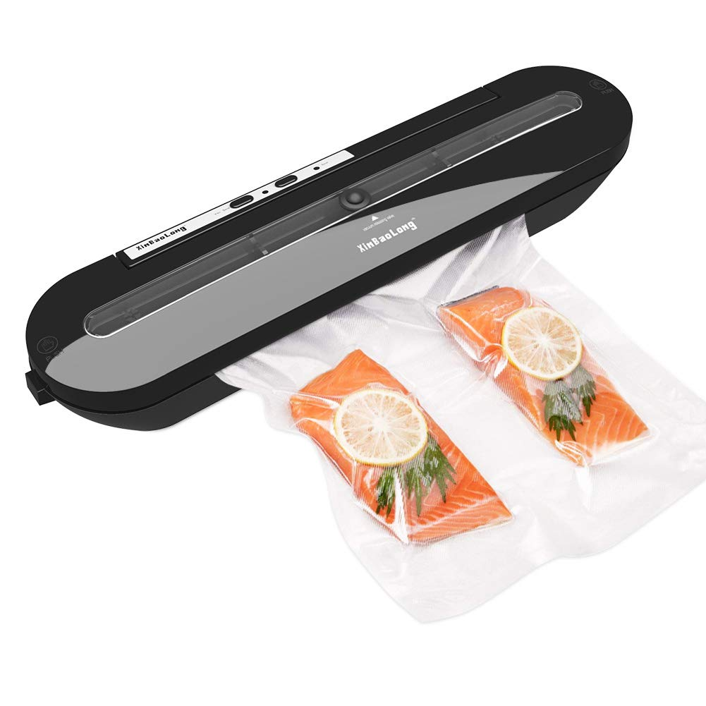 Vacuum Sealer,Delicacy Automatic Vacuum Sealing System Food Vacuum Machine for Dry and Moist Food Preservation and Sous Vide,Include 10 Sealable Bags