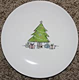 Rae Dunn Artisan Collection''oh Christmas Tree'' Dessert/appetizer Plates in Storage Box- Set of 4 Beautiful 6'' Ceramic Plates