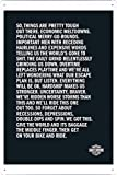 Harley-Davidson Motorcycles: Ride On 7.8''x11.8'' Tin Poster Metal Plate Wall Decor by Abstract Sign