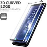 Samsung Galaxy S9 Edge 3D Glass Screen Protector [Black] GadgetMarket Tempered Glass Screen Protector for Galaxy S9 [Scratch-Resistant] [Anti-Fingerprint] [Bubble Free] Tempered Glass Screen Protector