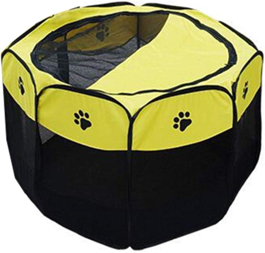 ペットテント、ペット猫分娩室猫の生産ボックス屋内閉鎖ペットテント8面通気性フェンス折りたたみ屋外ペットゲームフェンス (Color : 赤, Size : 72*72*45CM) 赤 72*72*45CM