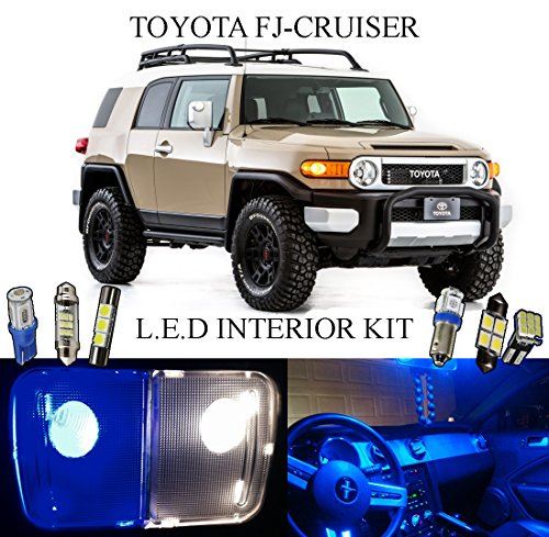 Trim License Area (2008 - 2014 Toyota FJ Cruiser Ultra Blue LED Interior Package + License Plate (6 Pieces))