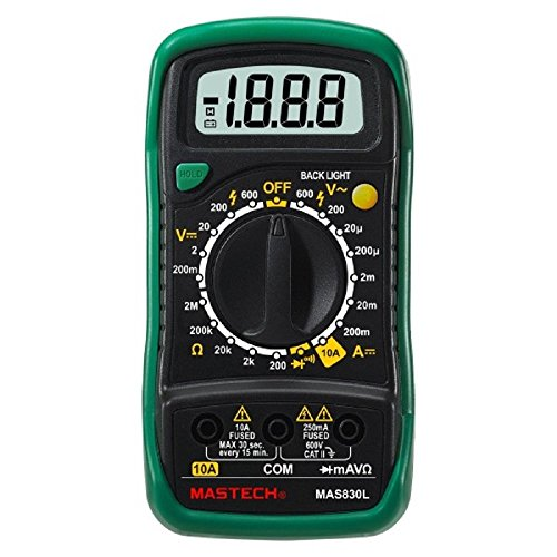 Mastech MAS830L Digital Multimeter - Multi Meter with Probes, Original
