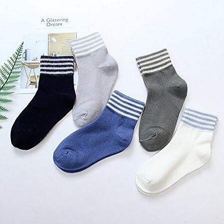 ZYTAN bambini senza osso giunto calze invernali calzini di cotone gli studenti. 5 coppie