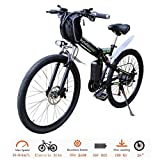 CLIENSY 26' Electric Mountain Bike, Shimano 21 Speed Folding Electric Bike with Removable 36V Large Capacity Lithium Battery and 350W Powerful Motor (US Stock)