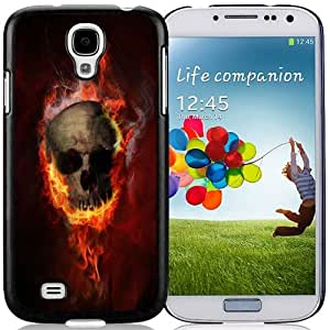 New Personalized Custom Designed For Samsung Galaxy S4 I9500 i337 M919 i545 r970 l720 Phone Case For Burning Skull Phone Case Cover wangjiang maoyi by lolosakes