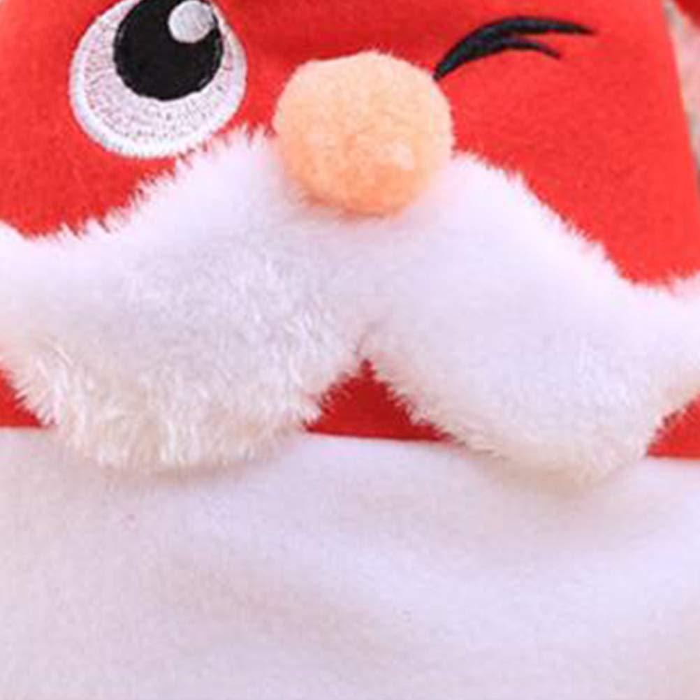 FENICAL Sombrero de Navidad Bordado Sombrero Blanco Sombrero de Dibujos  Animados de Santa Claus Sombreros del Festival para niños 2PCS  Amazon.es   Ropa y ... 9d8602213f4