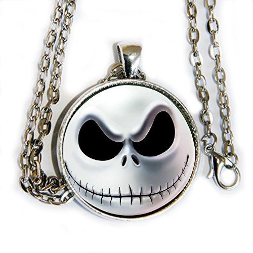 Jack Skellington Head - Pendant Necklace - TNBC - HM
