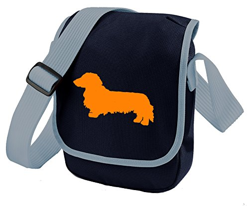 Bag Mini Haired Dachshund Dachshund Long Dachshund of Dachshund Long Silhouette Bag Reporter Blue Bag Colours Choice Haired Dog Haired Orange Bag Long Gift Shoulder qqYw7S