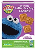 Earth's Best Organic Cookies, Toddler Snacks, Oatmeal Cinnamon, Sesame Street Letter of the Day Cookies, 5.3 Ounce (Pack of 6)