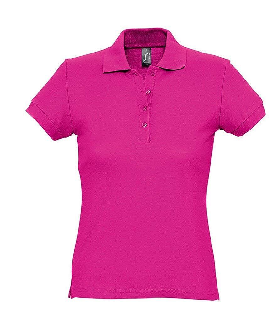 SOLS - Polo de piqué de algodón pasión para Mujer Rosa Fucsia S ...