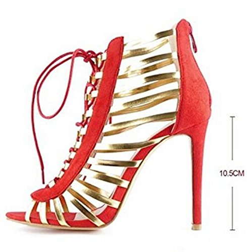 XX&GXM 2017 New Summer Gifts Women's European and American B073D2QBHY high heels,Red,36 B073D2QBHY American Shoes fcb6b7