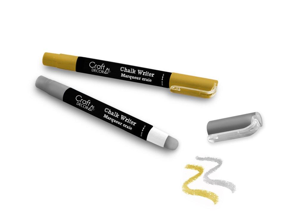 Craft Decor CD961C Chalk Writer Mess Free 2pk Gold//Silver Vibrant