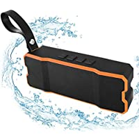 Waterproof Wireless Bluetooth Speaker, Portable Outdoor Speaker with Loud HD Sound and Rich Bass, POWERIVER IPX6 Shower Speaker with Loop for Sport Beach Compatible with iPhone iPad Samsung