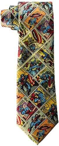 Marvel Men's Captain America Comics Tie