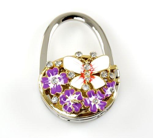 Stylish Foldable Handbag Holder Purple